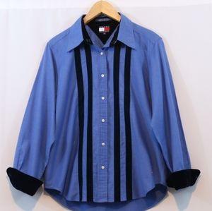 Tommy Hilfiger Cotton Velvet Button Up Shirt